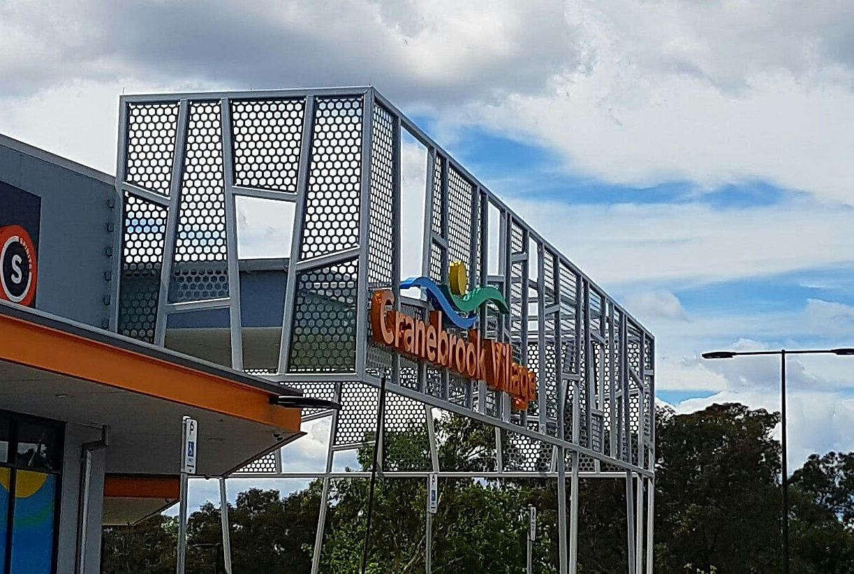 Custom perforated metal panels for Cranebrook Village by Arrow Metal