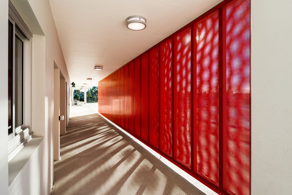 Bespoke perforated metal panel design by Arrow Metal