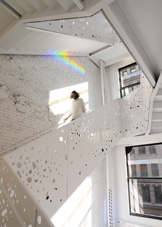 Metal Balustrade Design - NYU Department of Philosophy - Steven Holl Architects