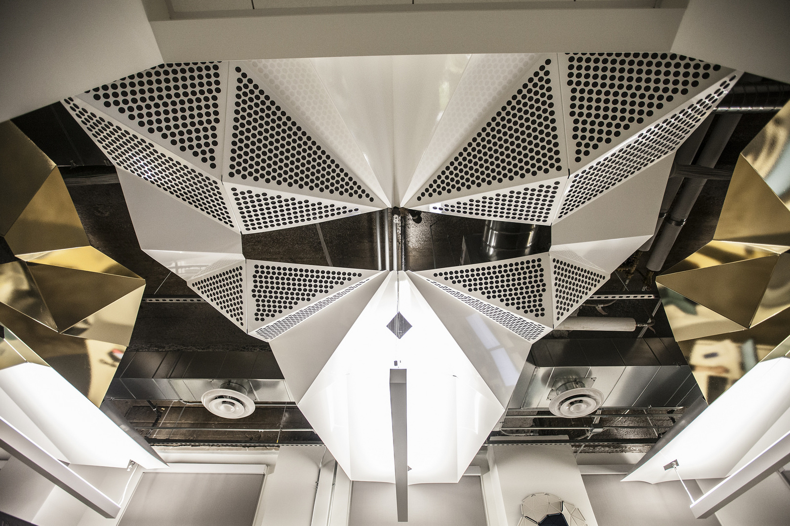 Metal ceiling - perforated metal - Because we can project