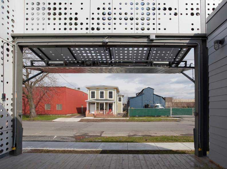 Perforated metal shutters