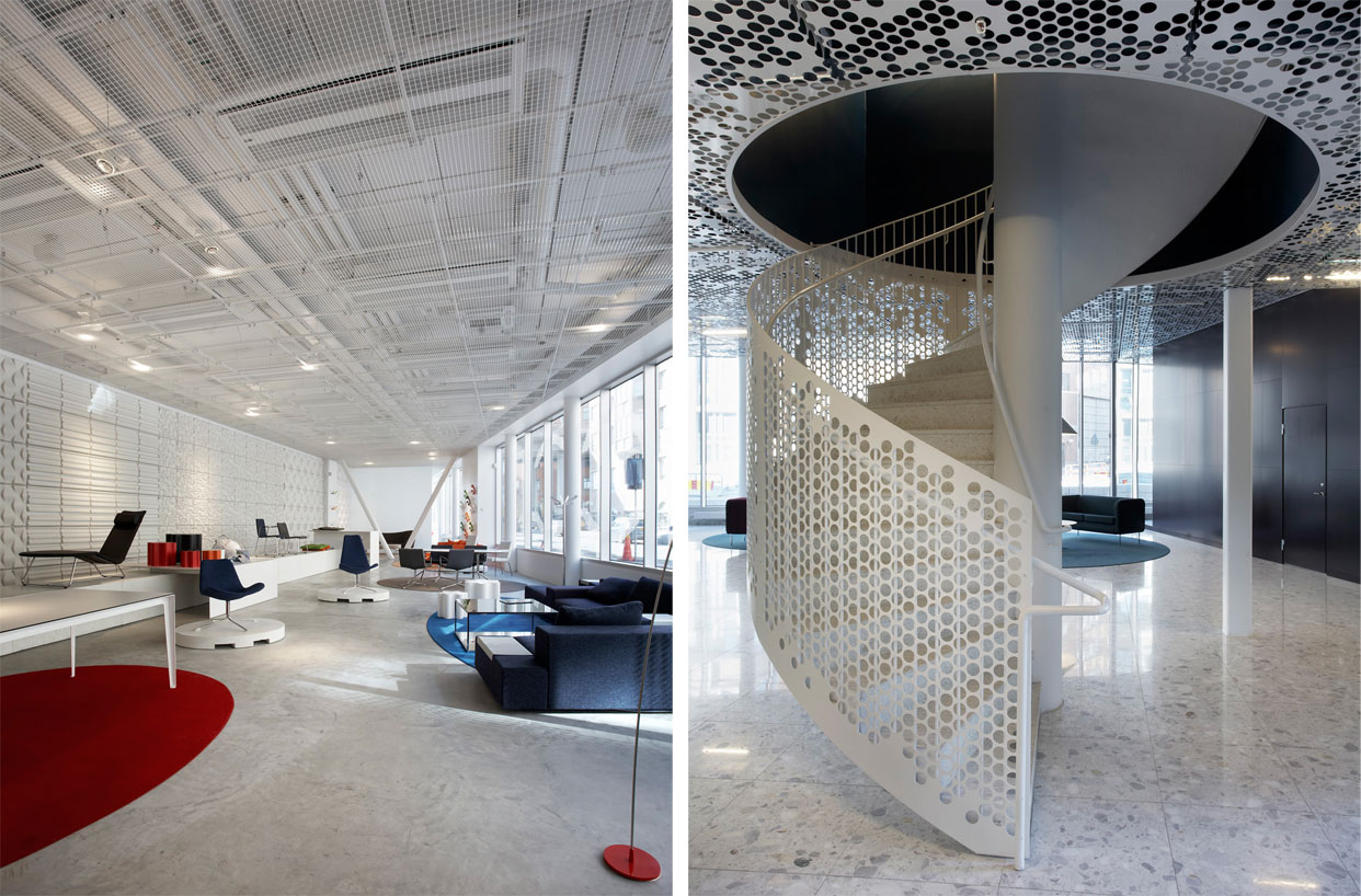 Perforated metal offices - projects worldwide