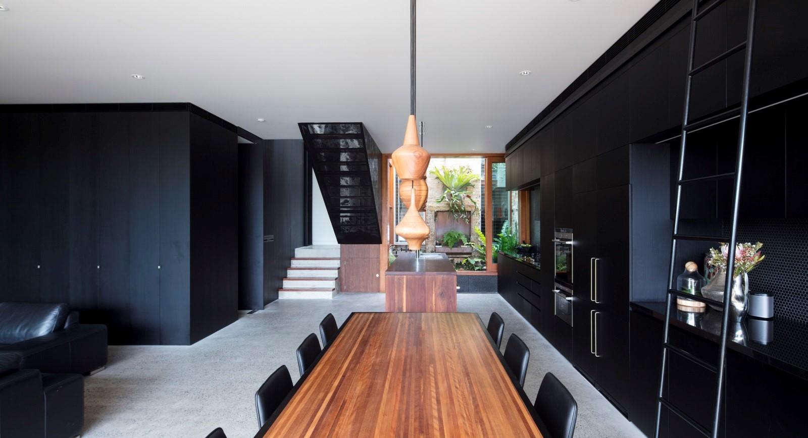 Interior trends 2019 - black interiors - metal panels by Arrow Metal