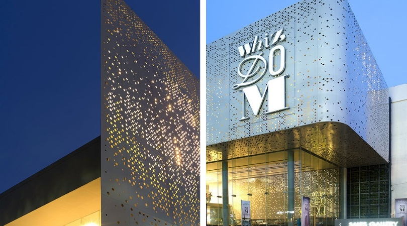 Perforated facade - favourite projects