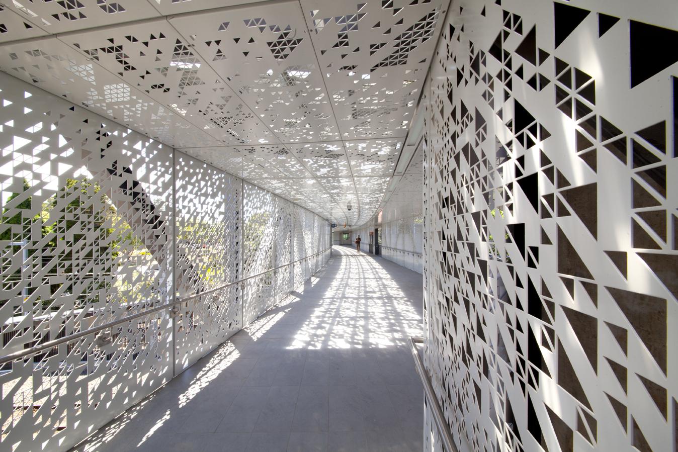 Bespoke perforated metal design - Oatley Station