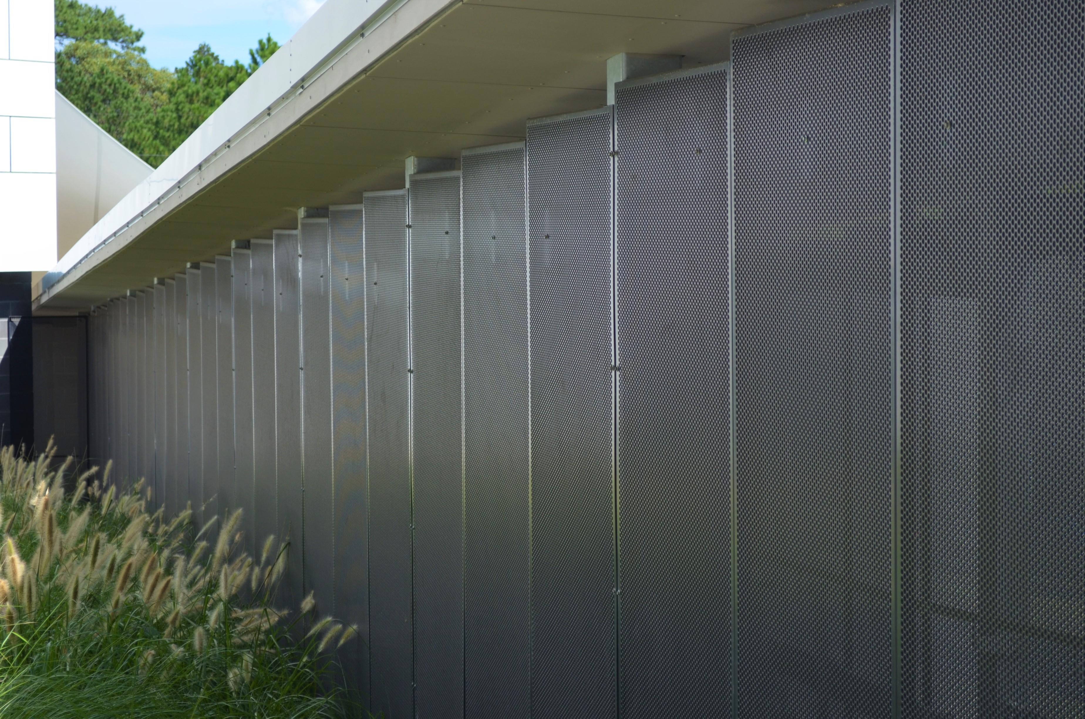 Bespoke perforated metal design- Gosford Hospital