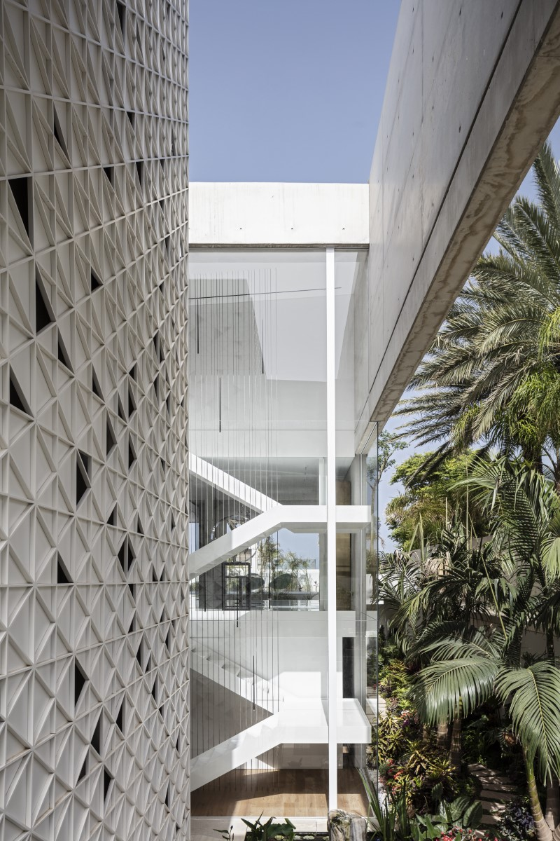 White perforated metal