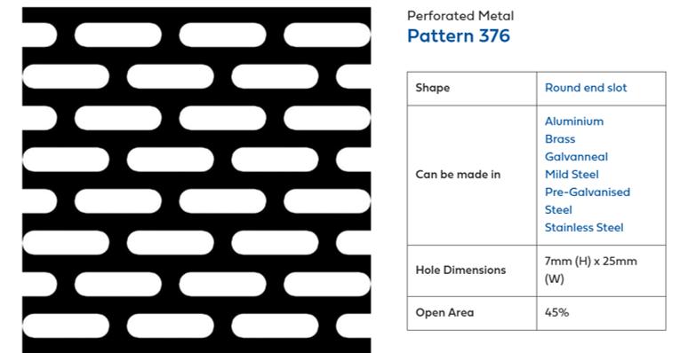 Decorative perforated metal sheet - Pattern P368