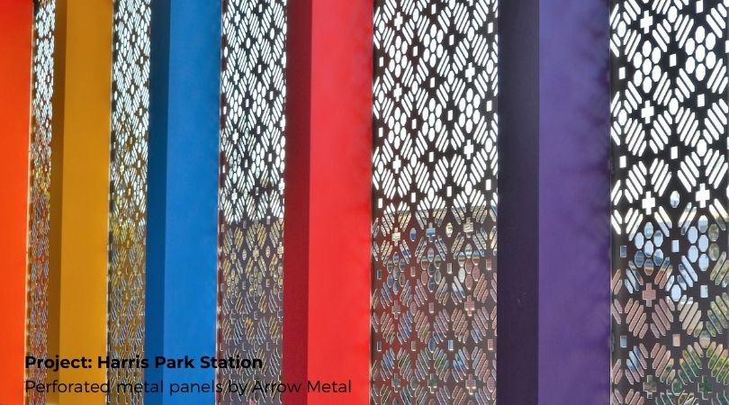 Perforated sheet ideas - Harris Park Station