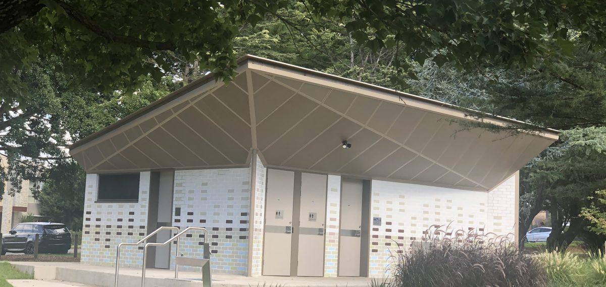 Perforated metal roof panels - Rockdale Park Amenities Block