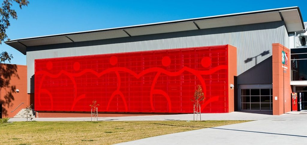 Perforated metal for leisure developments - Blacktown Tennis Centre