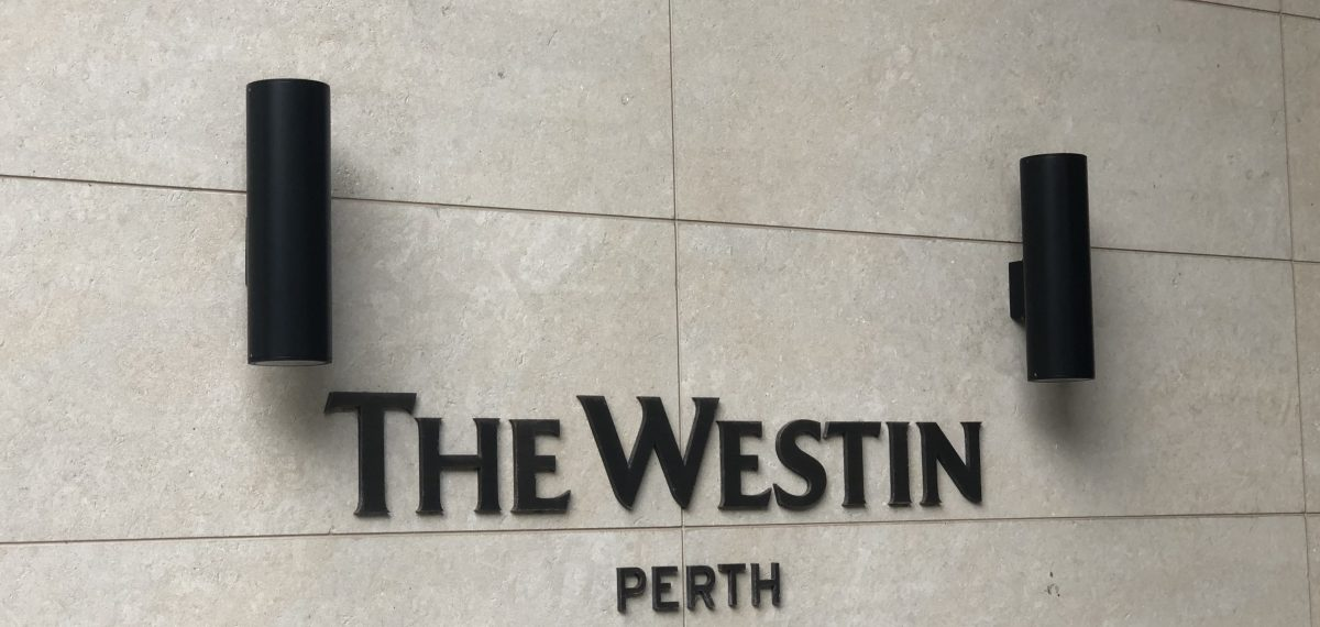 Decorative perforated panels by Arrow Metal the The Westin Perth
