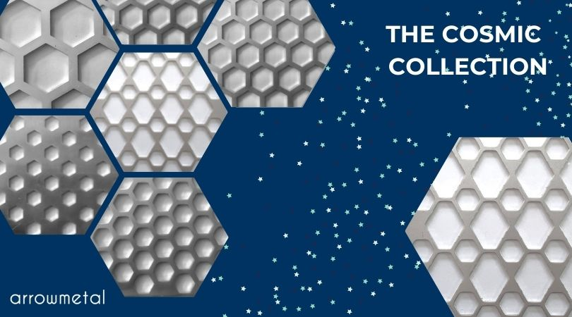 New hexagon perforated metal collection by Arrow Metal